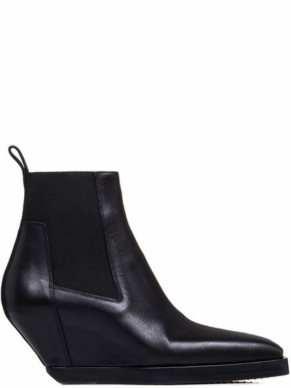 RICK OWENS ELASTIC SLIVERS IN BLACK LEATHER