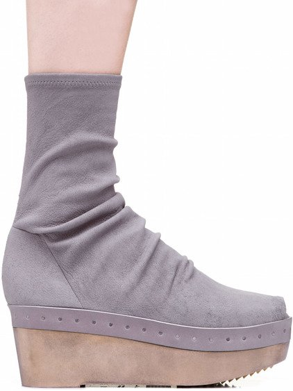 RICK OWENS SOCK SABOTS PEARLIZED IN GREY