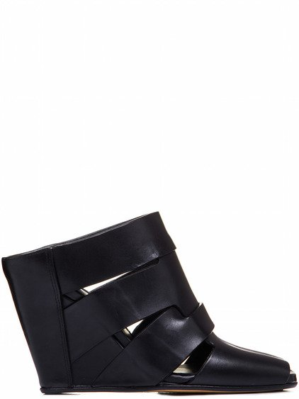RICK OWENS LAZARUS WEDGE SABOT IN BLACK
