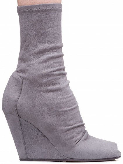 RICK OWENS SOCK WEDGES IN GREY