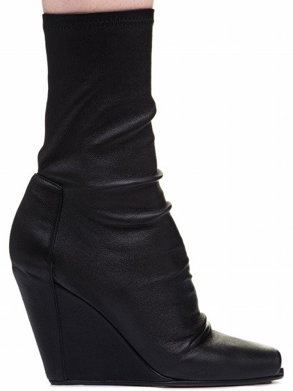 RICK OWENS SOCK WEDGES IN BLACK
