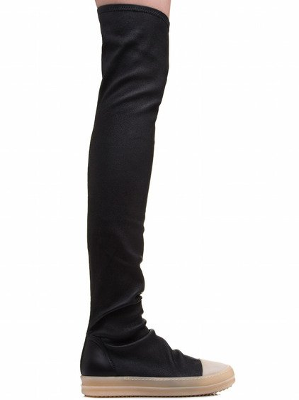 RICK OWENS RUBBER STOCKING SNEAKERS IN BLACK