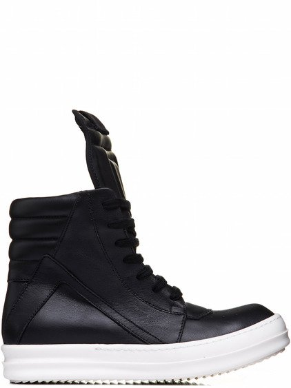 RICK OWENS GEOBASKETS IN BLACK