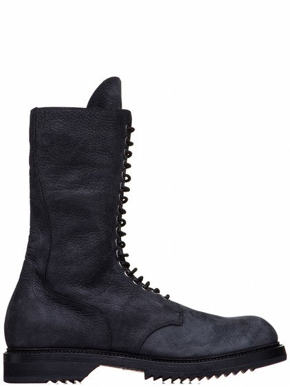 RICK OWENS ARMY BOOT IN BLACK LEATHER