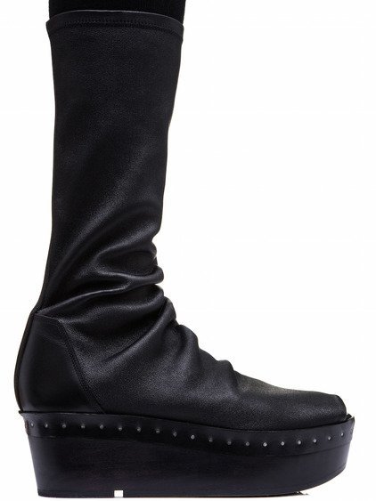 RICK OWENS SOCK SABOT IN BLACK