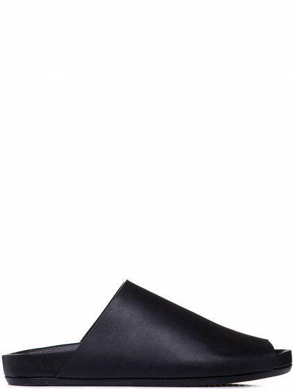 RICK OWENS GRANOLA SLIDE SANDAL IN BLACK