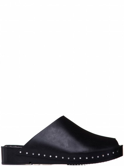 RICK OWENS ISLAND CLOGS IN BLACK