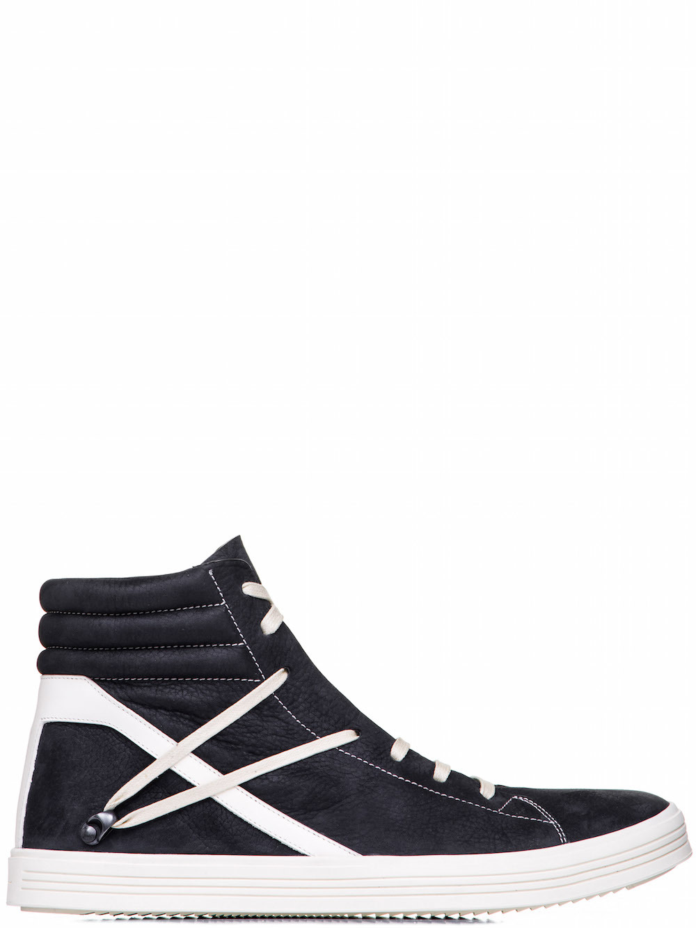 RICK OWENS GEOTHRASHER HIGH SNEAKERS IN BLACK