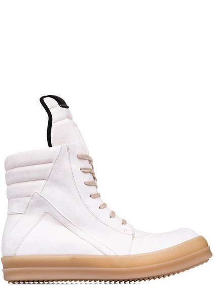 RICK OWENS GEOBASKET IN NATURAL WHITE