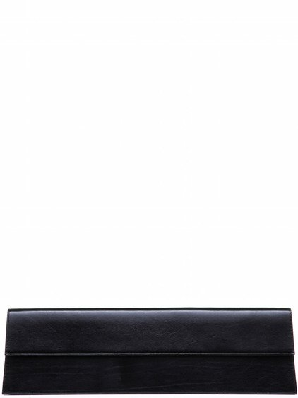 RICK OWENS MEGA CLUTCH IN BLACK BULL LEATHER