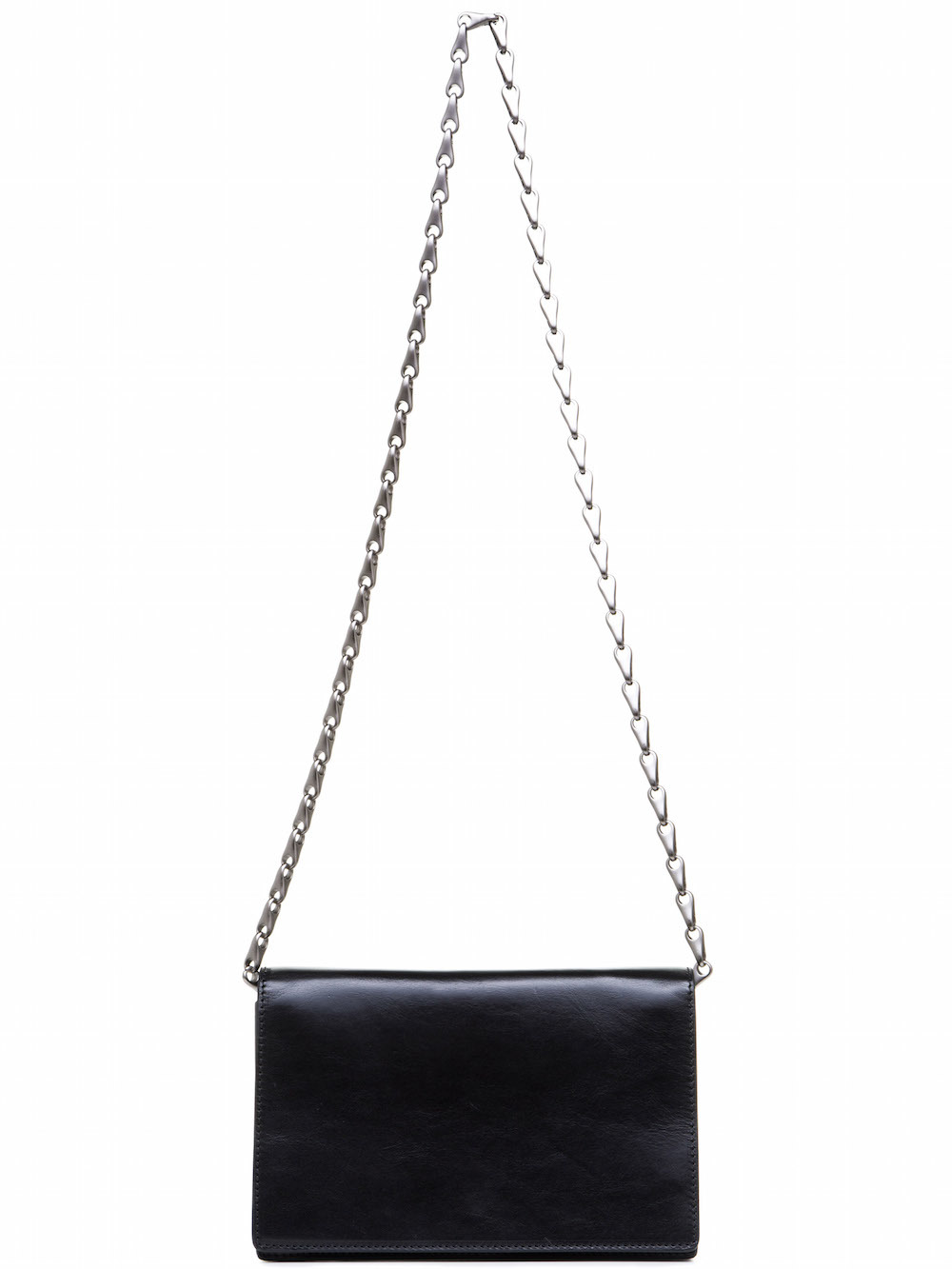 RICK OWENS SMALL SHOULDER BAG IN BLACK LEATHER