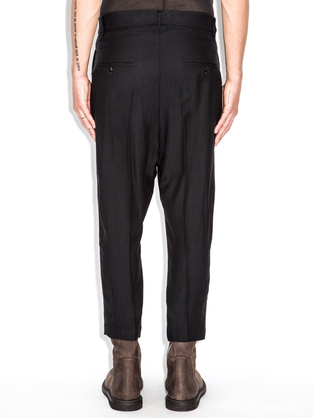 rick owens cropped easy astaire trousers