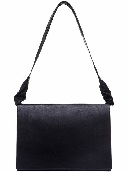 RICK OWENS WORK BAG IN BLACK CALF LEATHER
