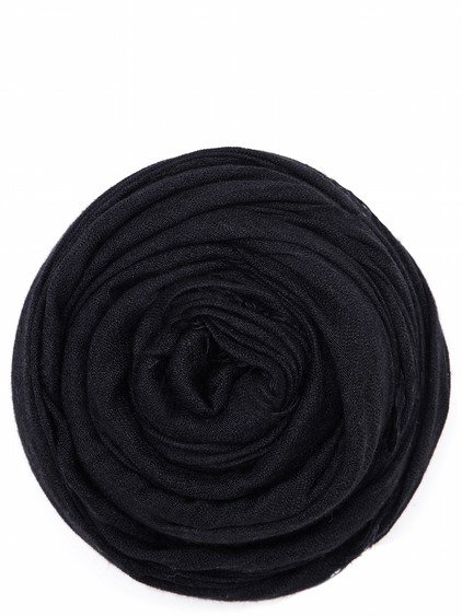 RICK OWENS FOULARD IN BLACK WASHED SILK CASHMERE
