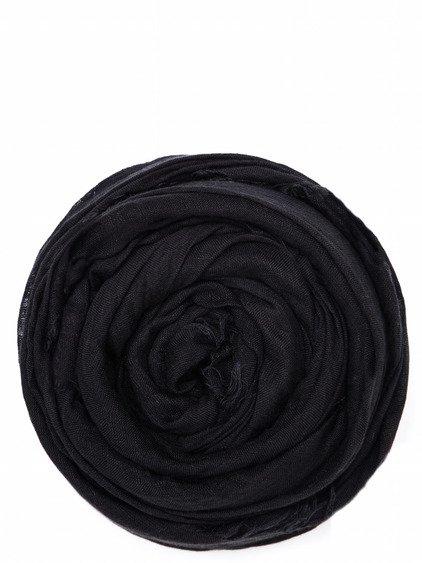 RICK OWENS SANDY FOULARD IN BLACK.