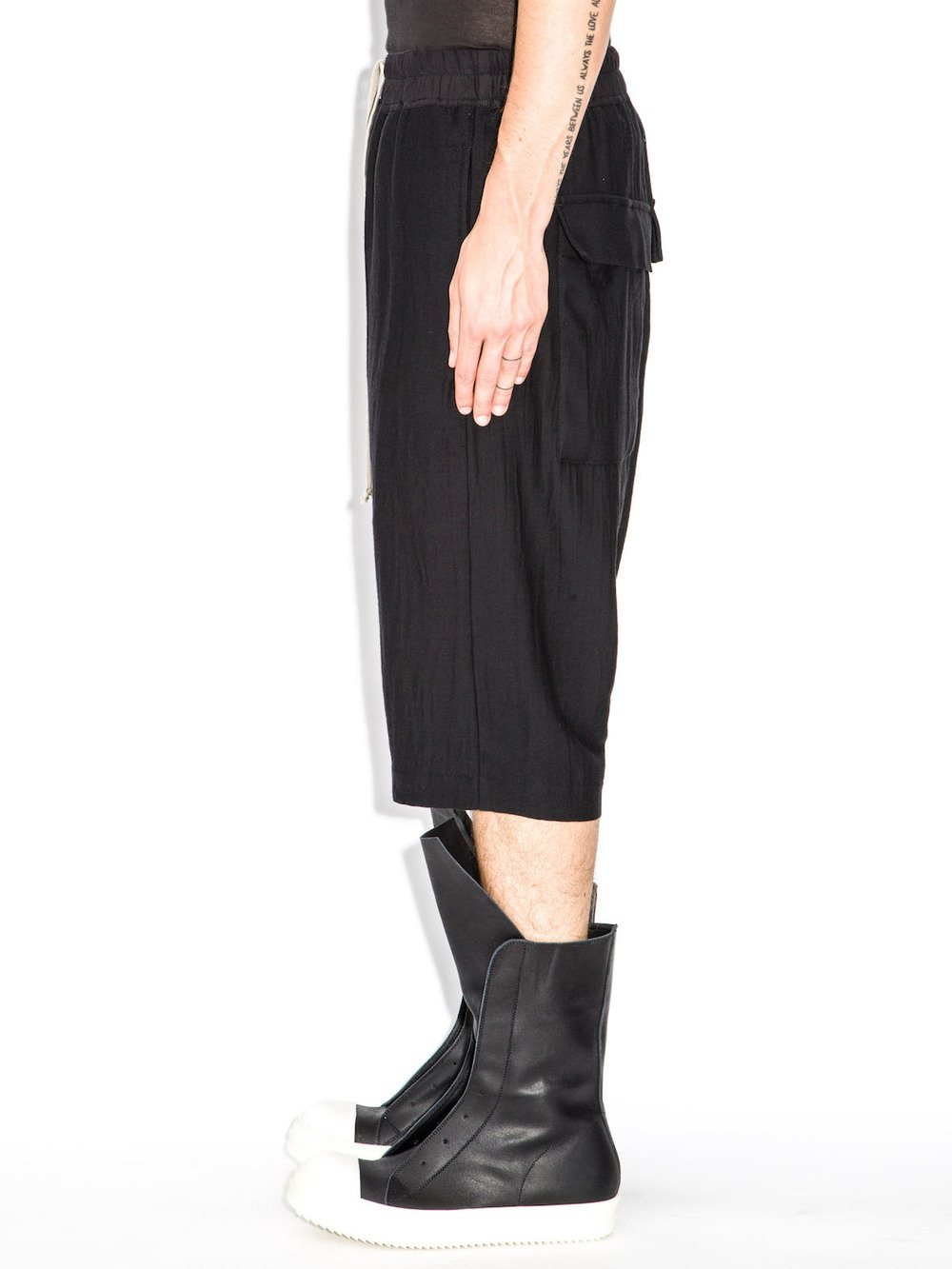 rick owens black shorts