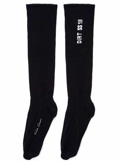 RICK OWENS SS18 DIRT THONG TOED SOCKS IN BLACK COTTON