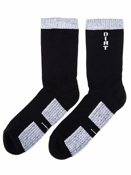 RICK OWENS SS18 DIRT SOCKS IN BLACK  AND GREY