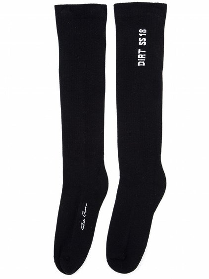 RICK OWENS MID CALF SOCKS IN BLACK