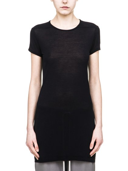 RICK OWENS LEVEL SHORTSLEEVES TEE IN BLACK VISCOSE