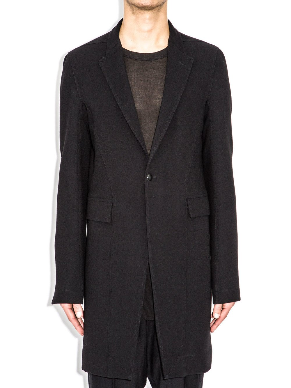 rick owens long jacket