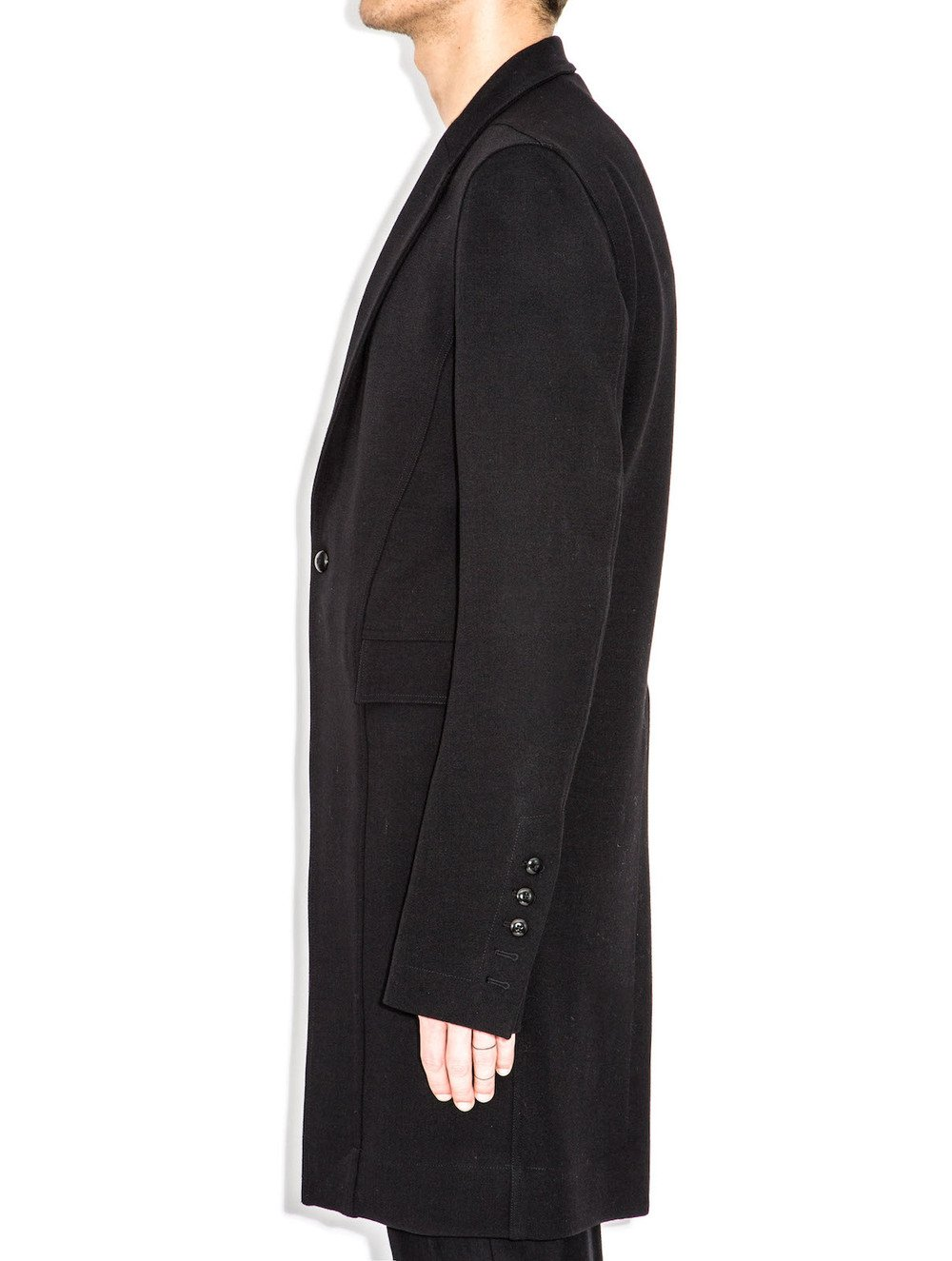rick owens black jacket