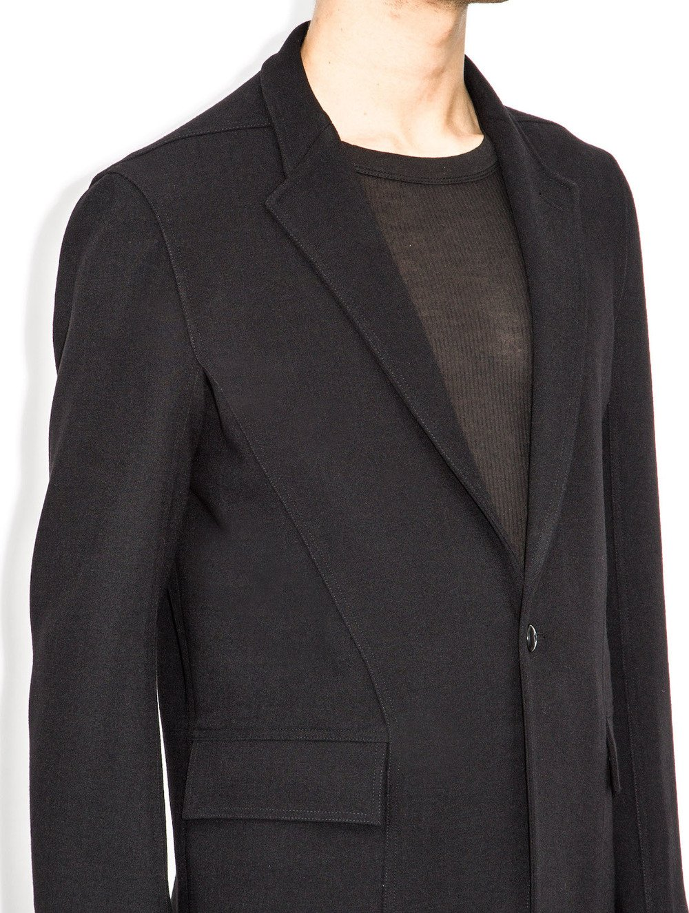 rick owens black long jackets