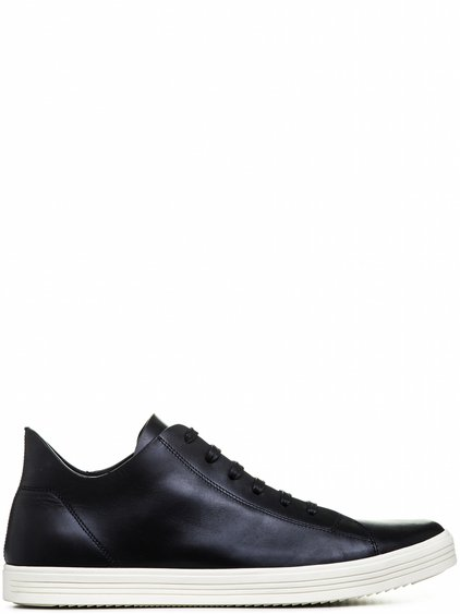 RICK OWENS MASTODON SNEAKERS IN BLACK LEATHER