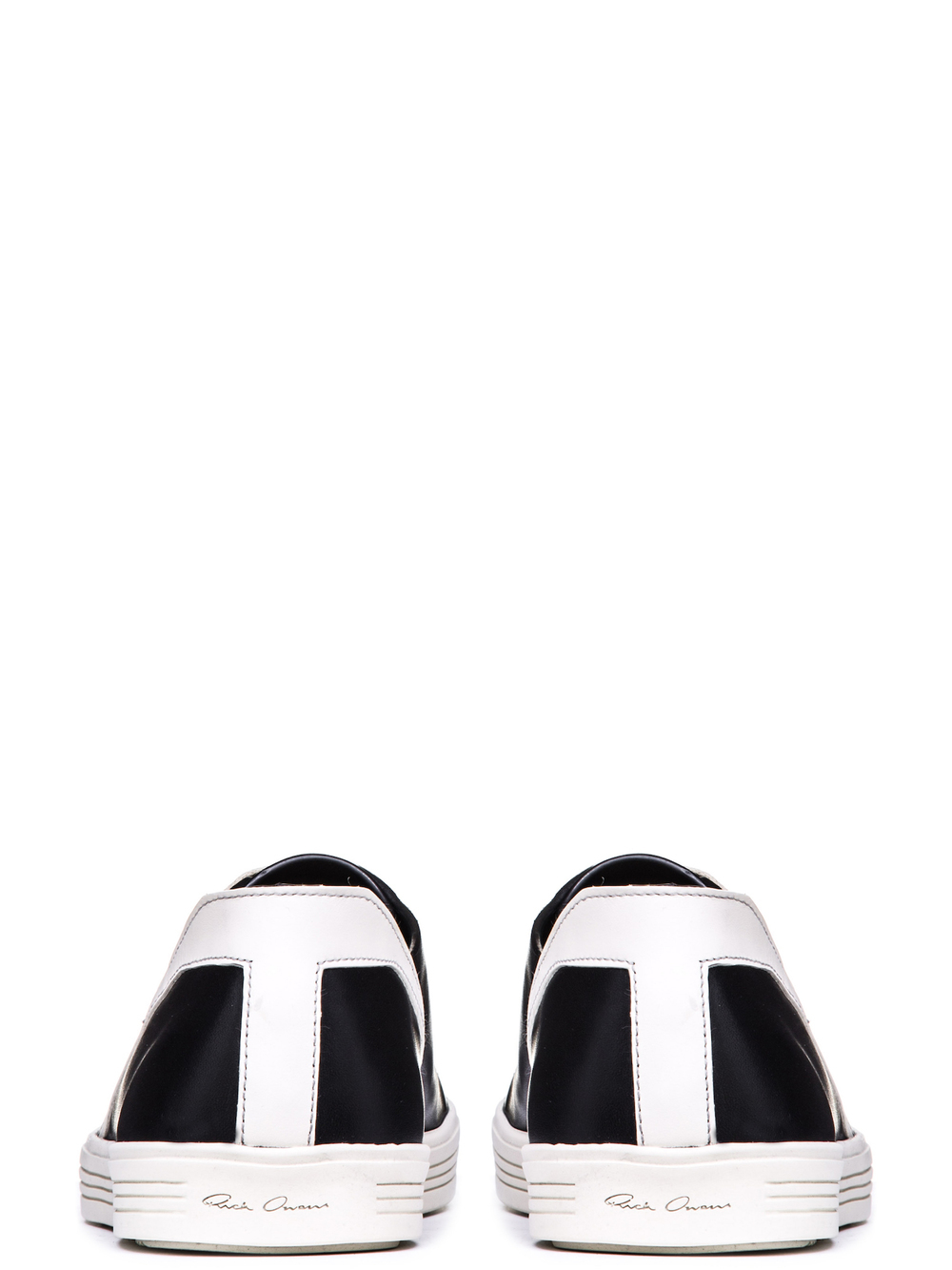 RICK OWENS GEOTHRASHER SHOES IN BLACK LEATHER