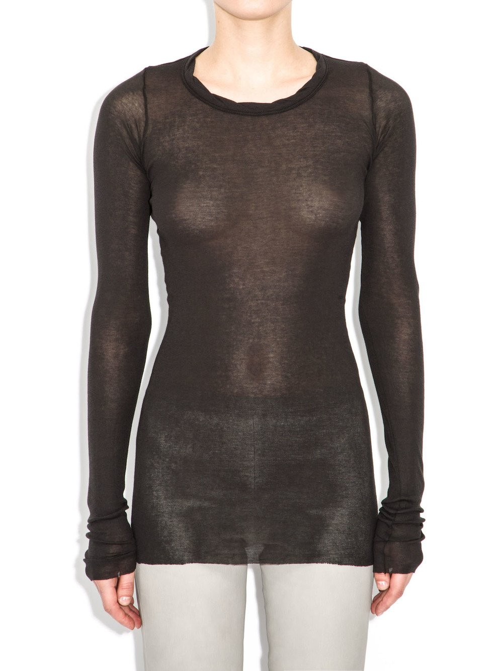 rick owens black long sleeve tee