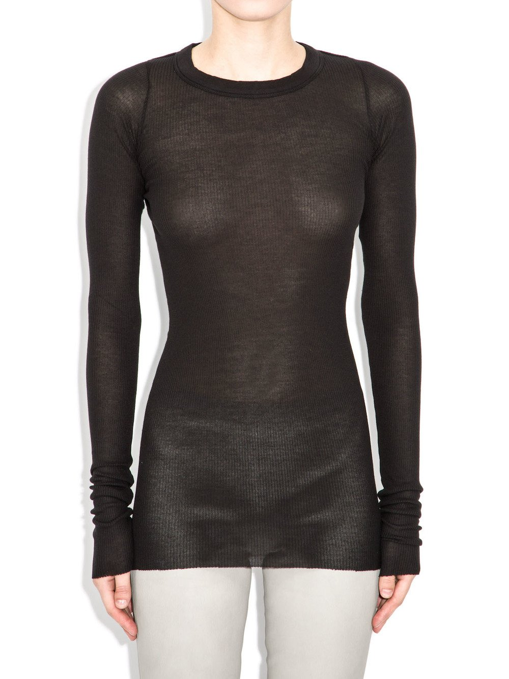 rick owens black long sleeve