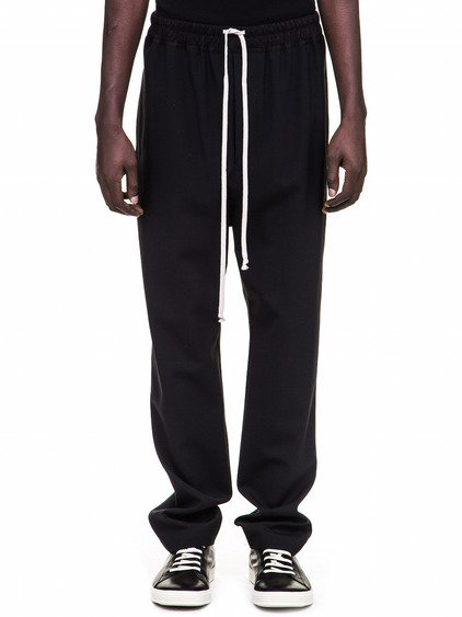 RICK OWENSDRAWSTRING ASTAIRES LONG TROUSERS IN BLACK