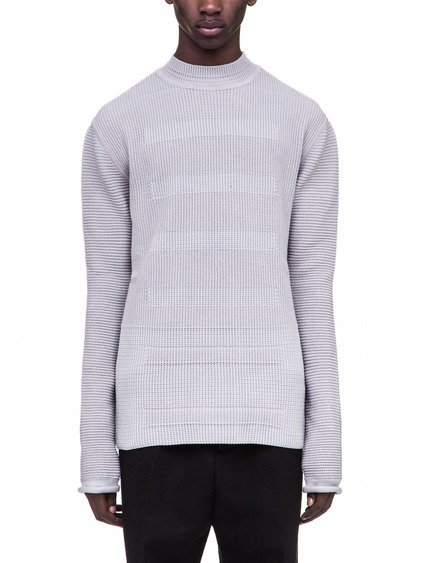 RICK OWENS LEVEL LUPETTO IN GREY CASHMERE