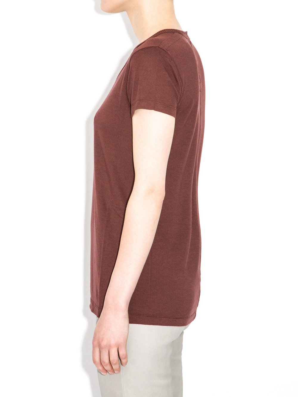 rick owens red v neck top