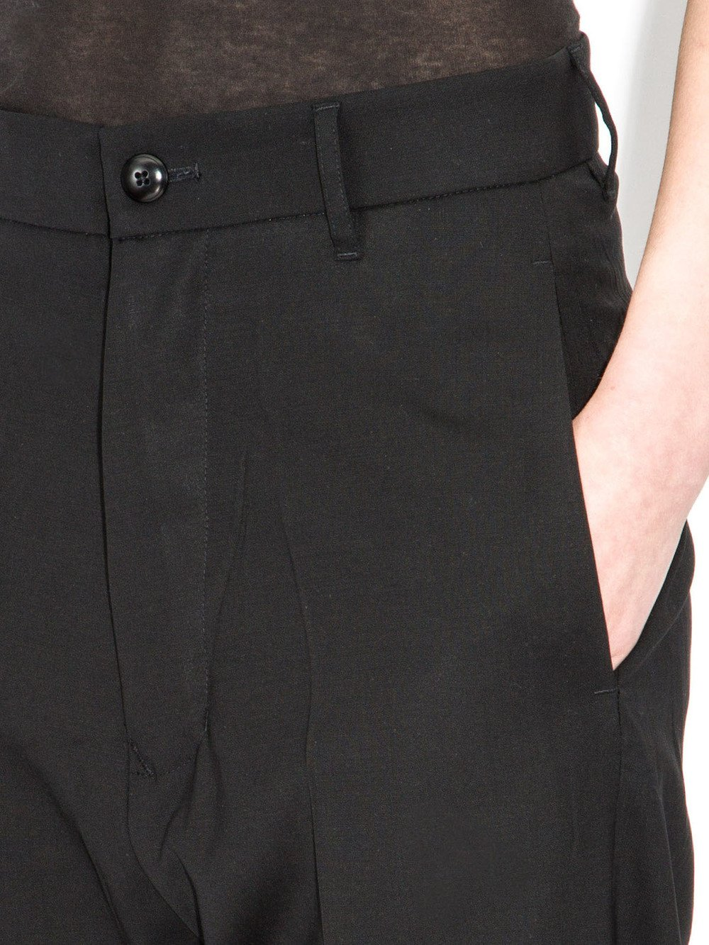 rick owens moody black trousers