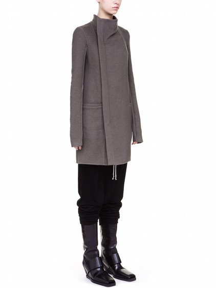RICK OWENS EILEEN COAT IN DARKDUST GREY