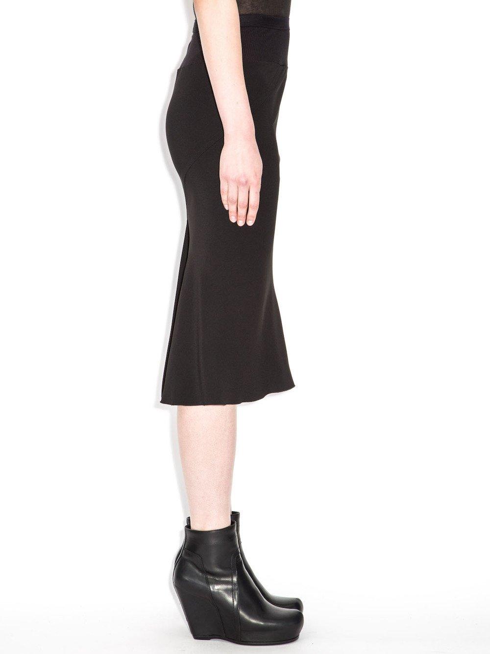 rick owens black skirt
