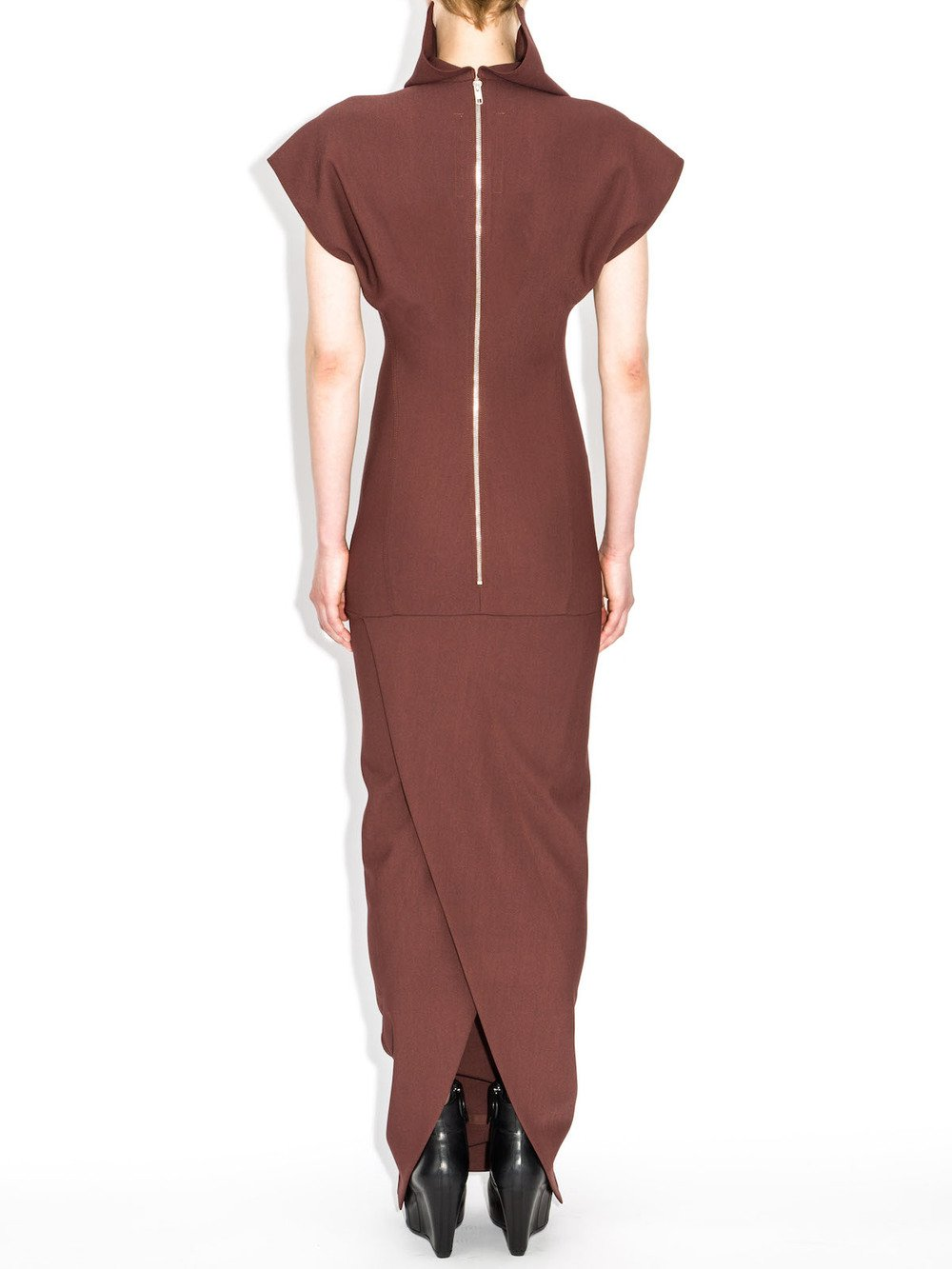 rick owens red fw14 dress