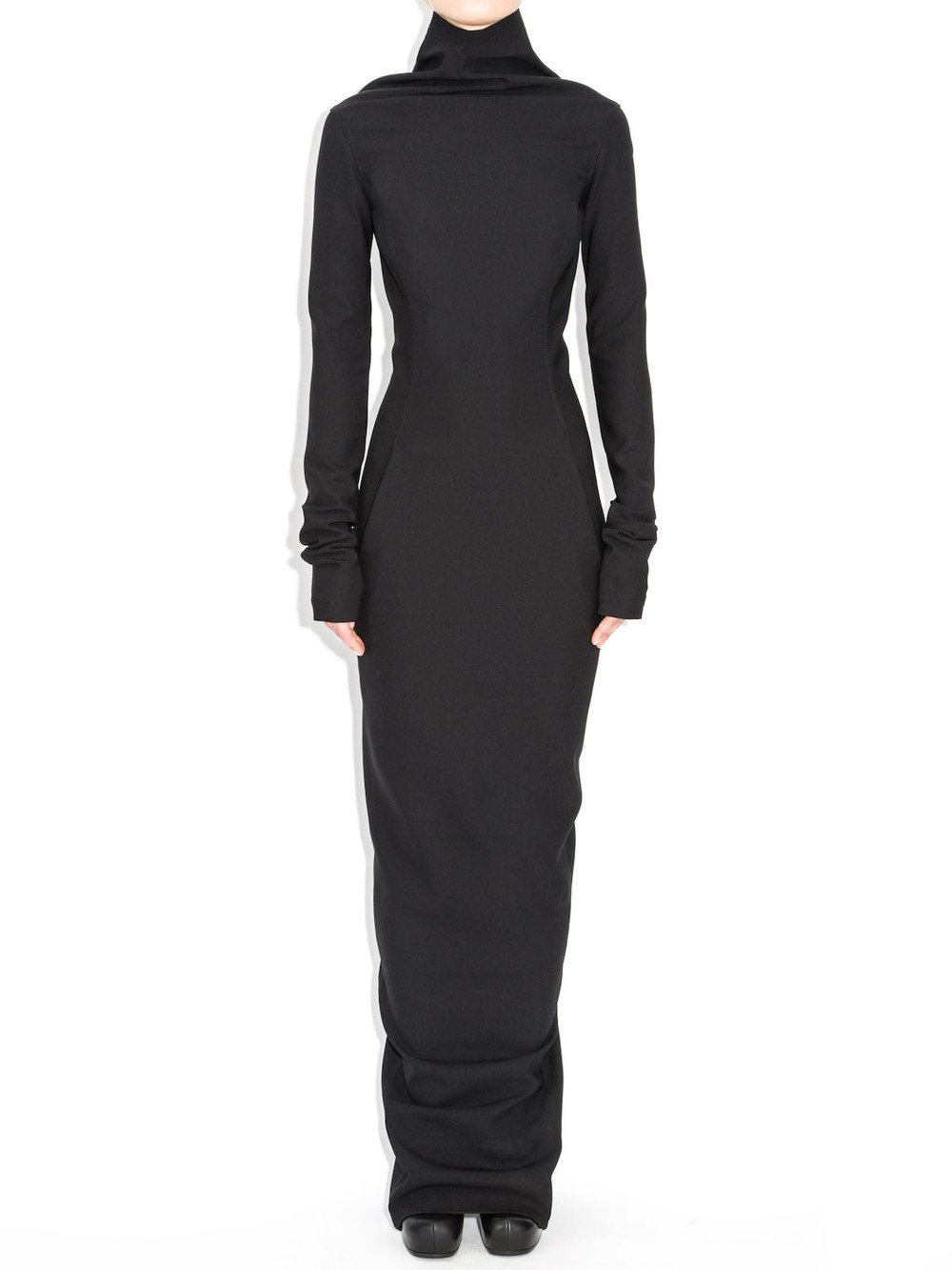 rick owens black raso dress