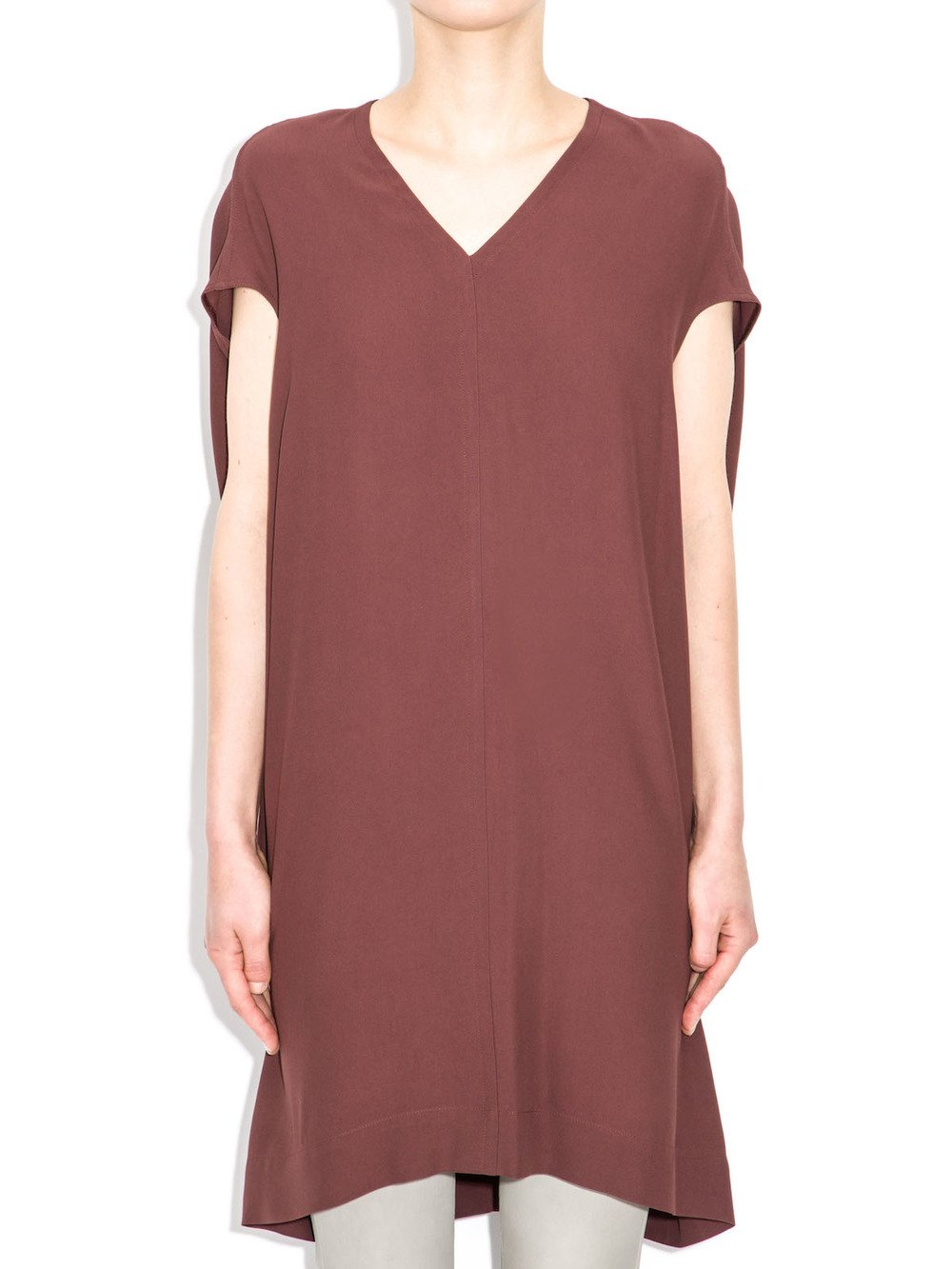 rick owens red tunic