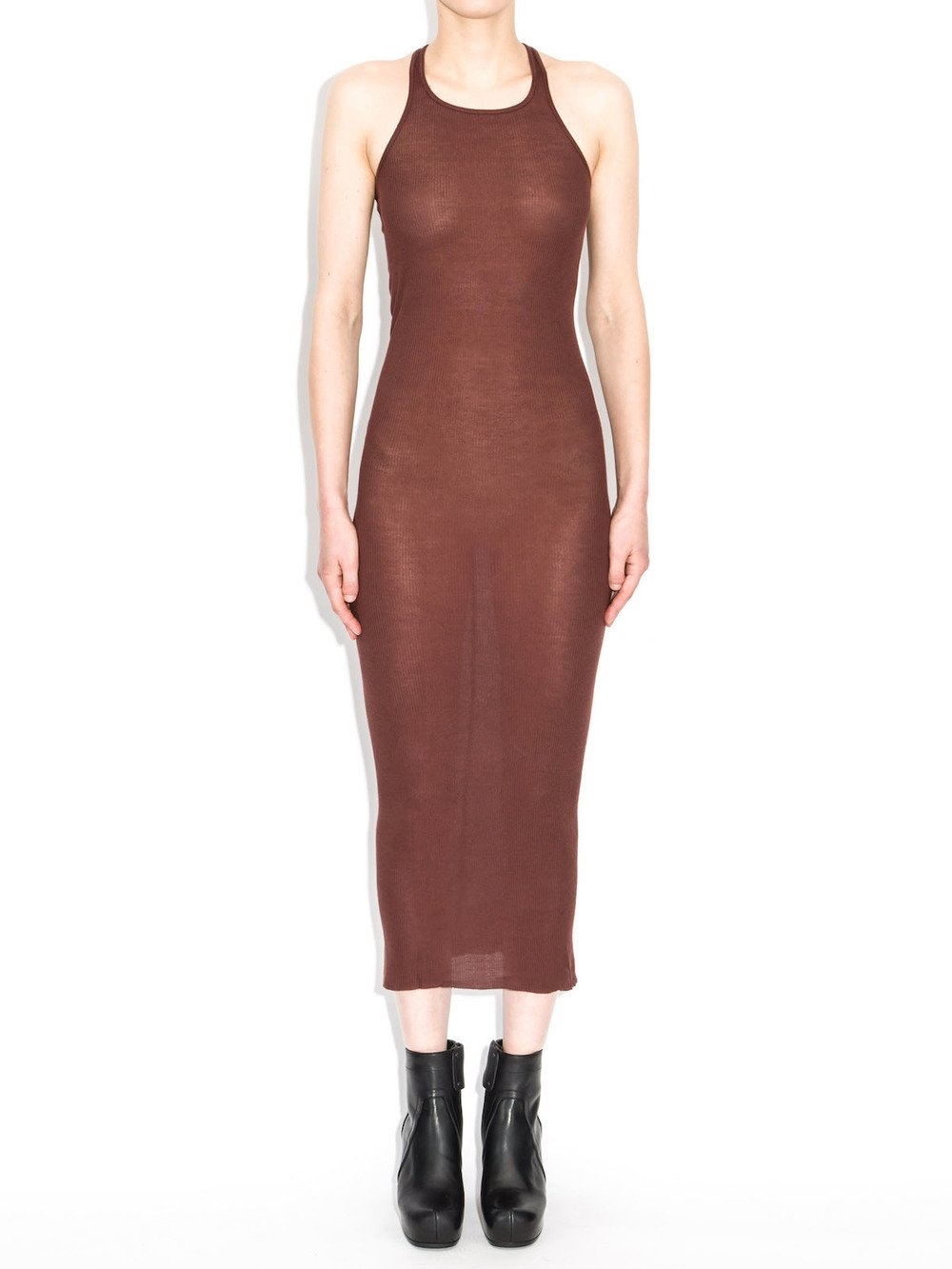 rick owens red tank dress