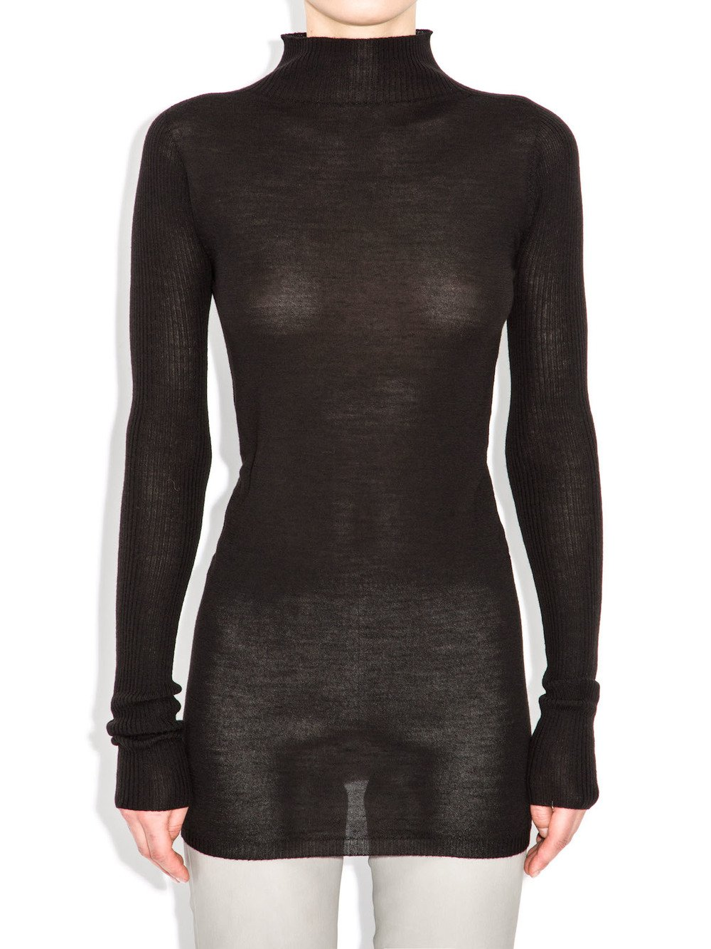 rick owens turtleneck sweater