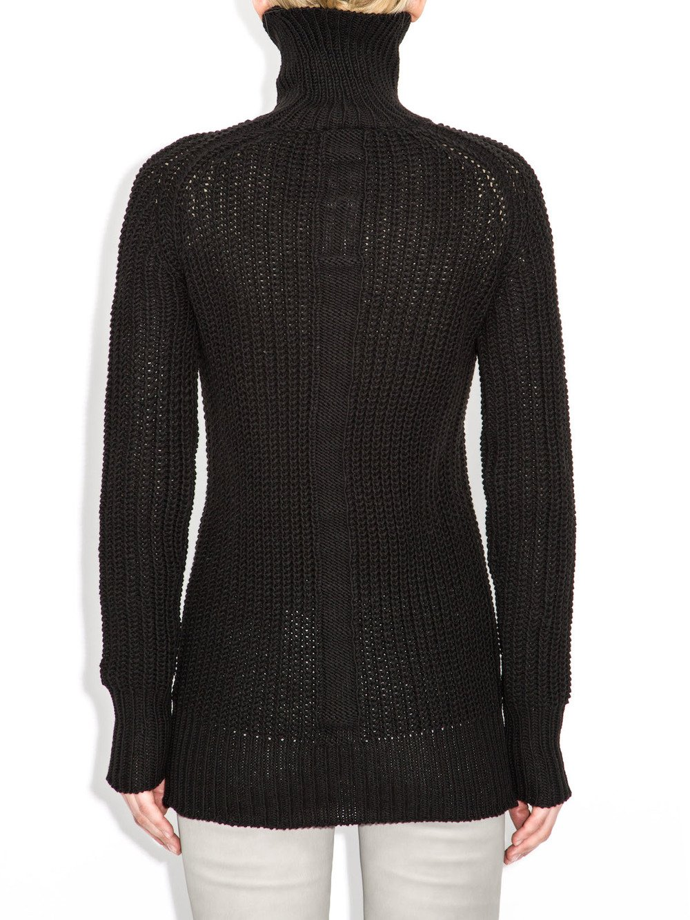 black turtleneck long sleeves rick owens