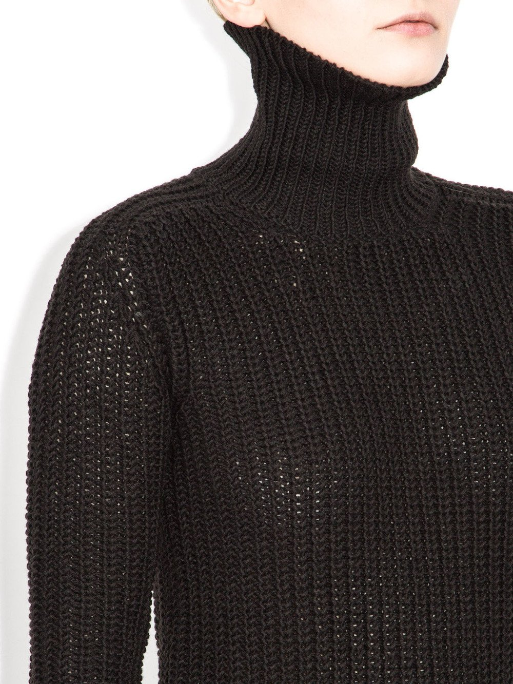 black turtleneck long sleeves