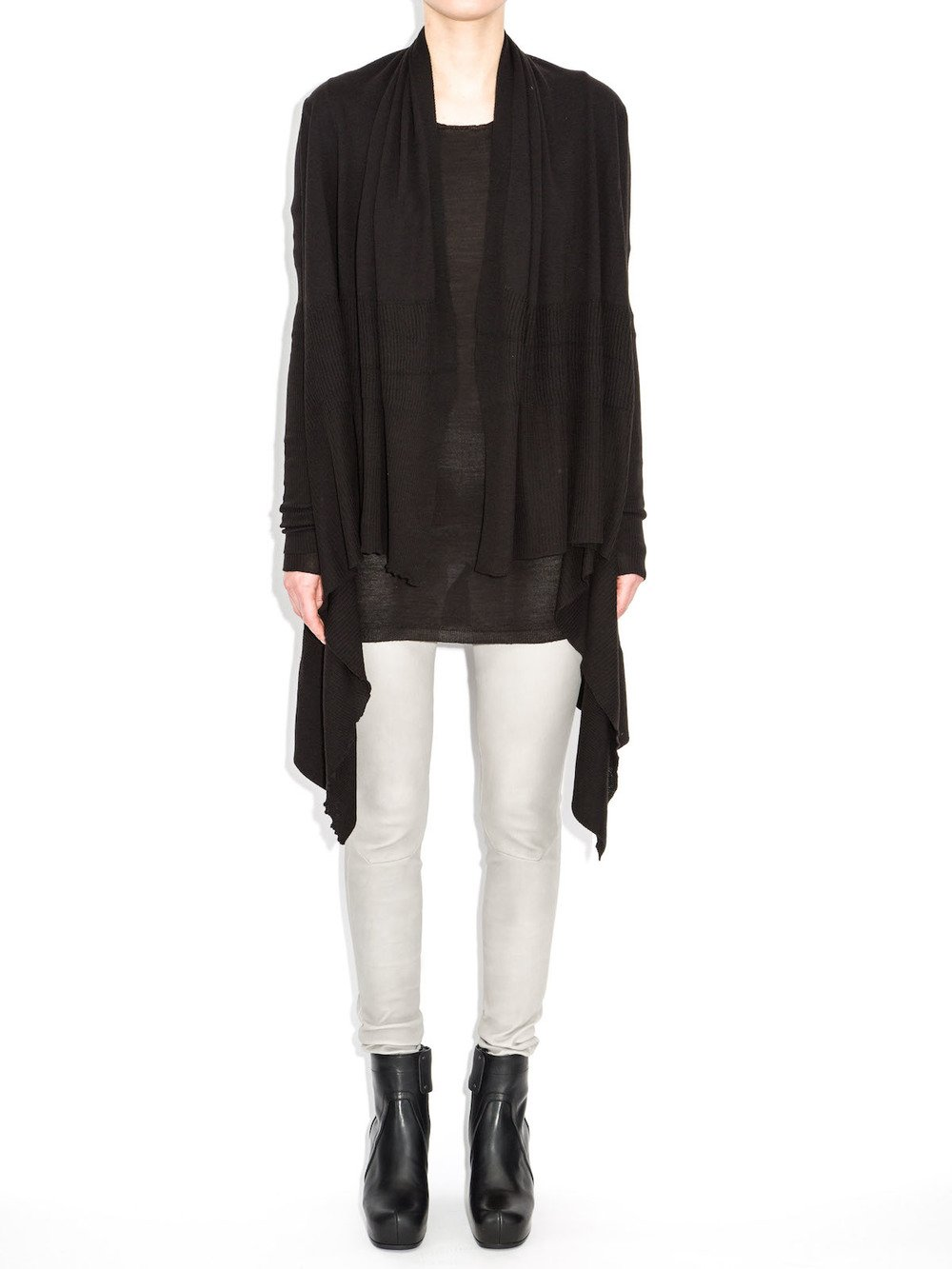 rick owens hooded wrap sweater