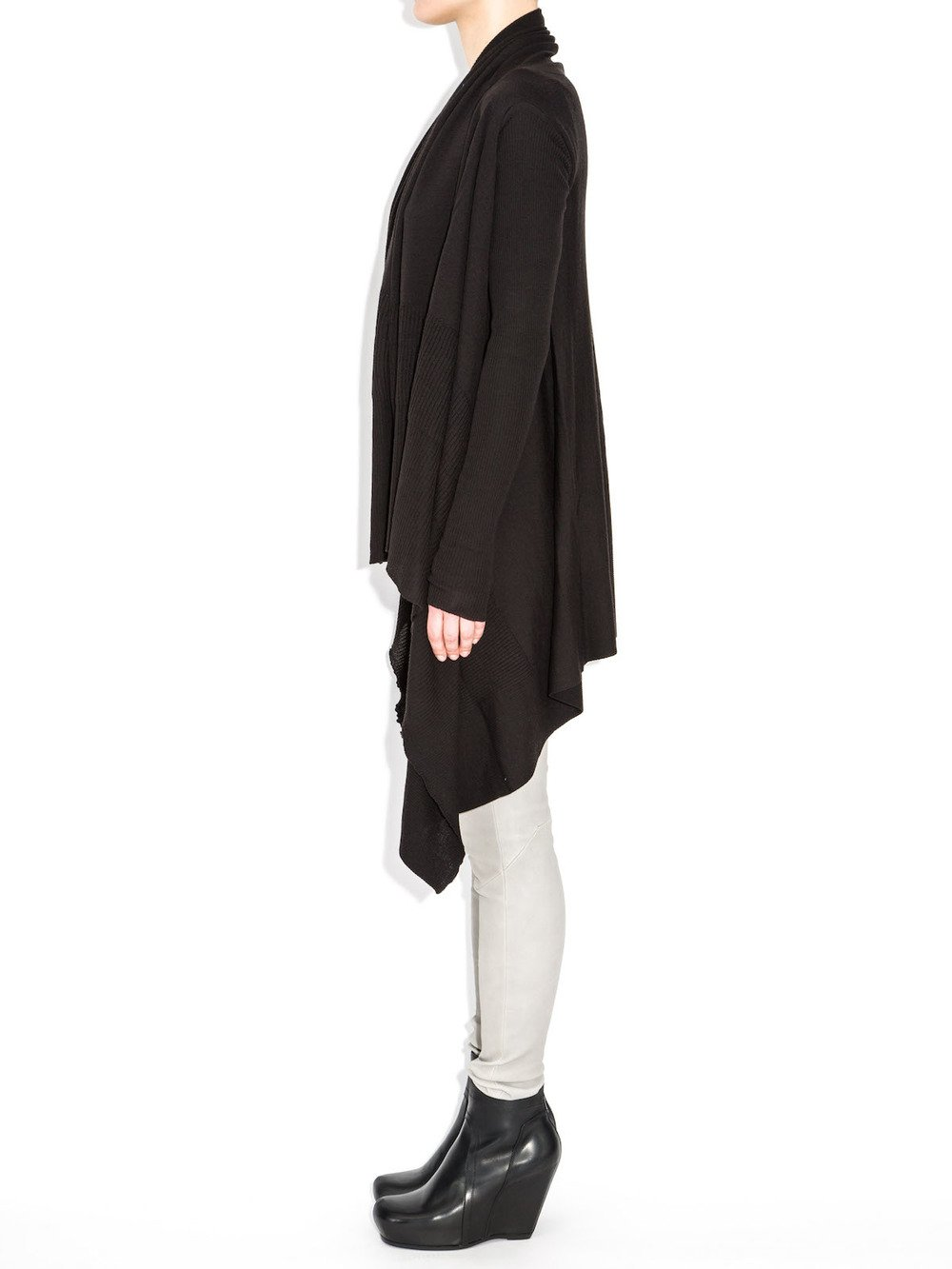 rick owens long sleeves wrap sweater