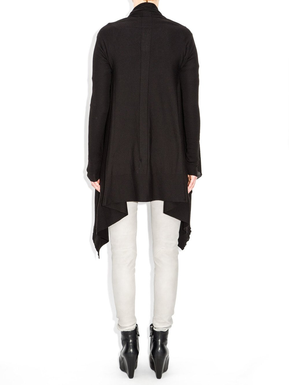 rick owens wool wrap sweater