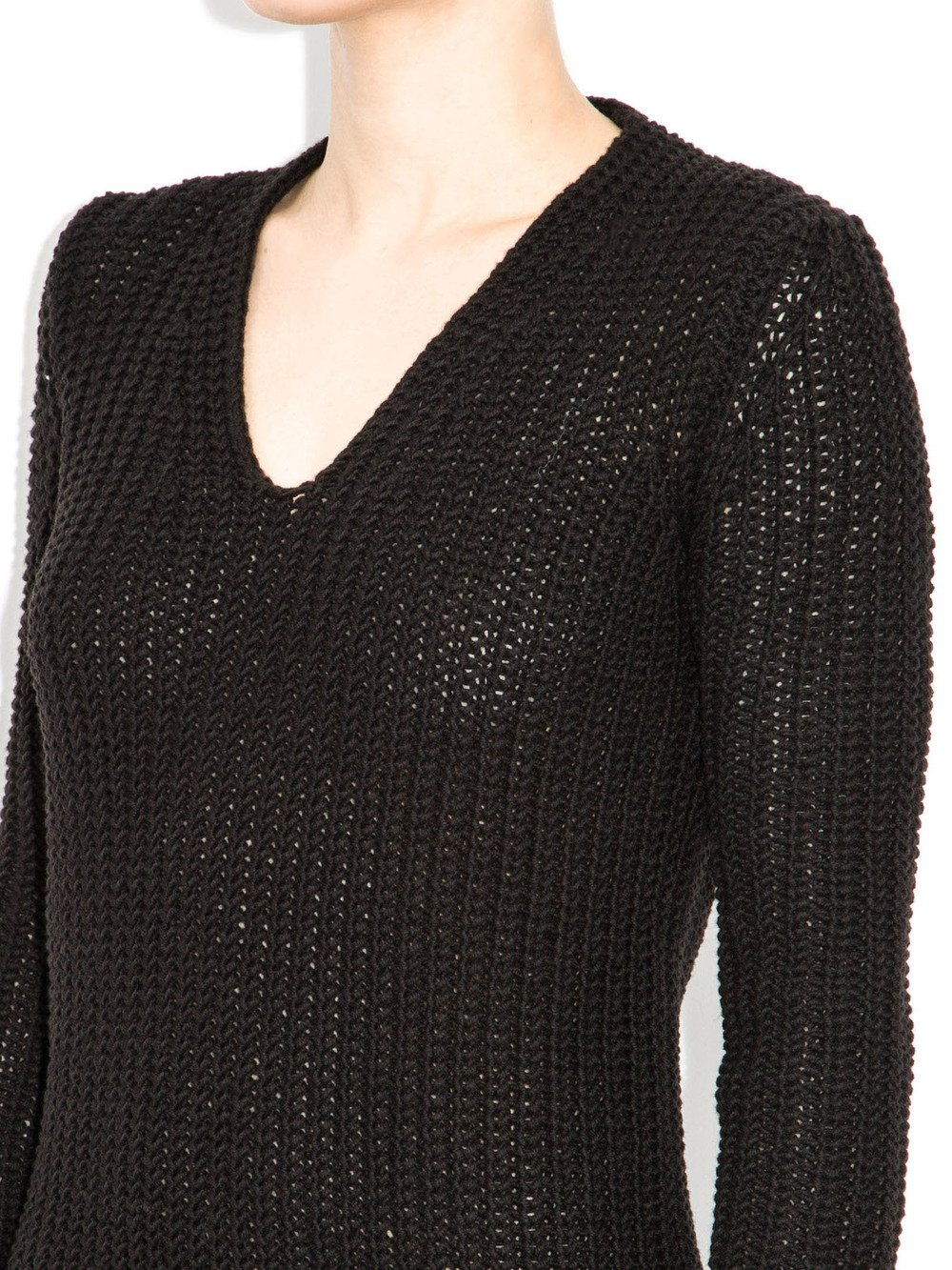 black long sweater rick owens