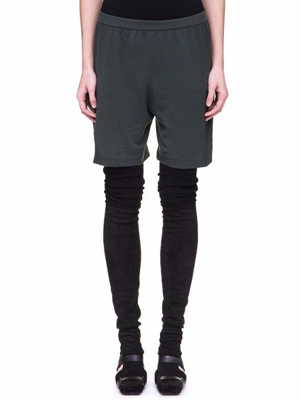 RICK OWENS OFF-THE-RUNWAY BOXER IN FOREST GREEN