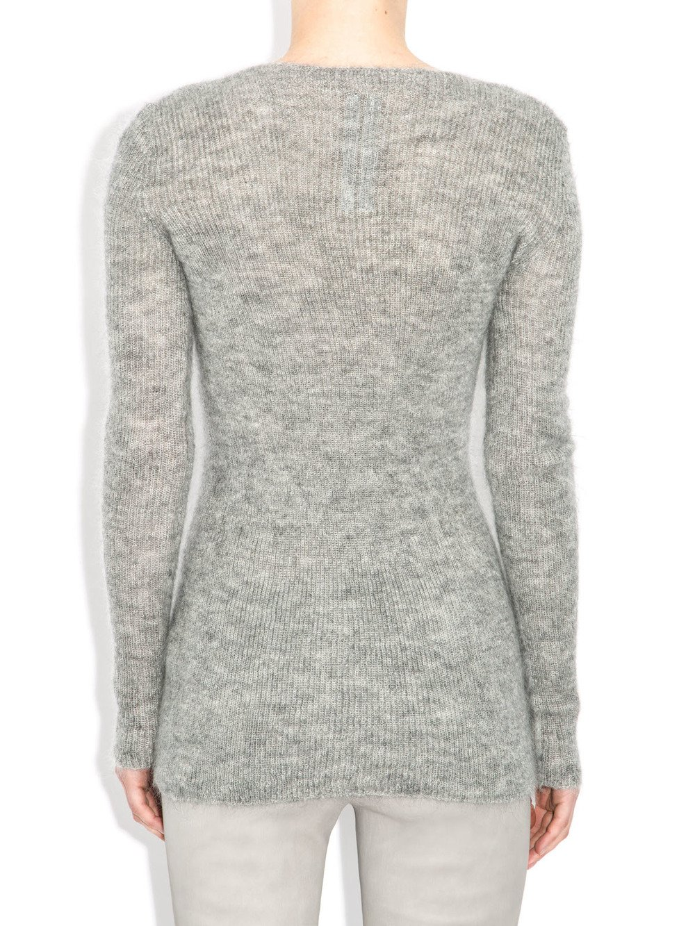 grey v neck sweater